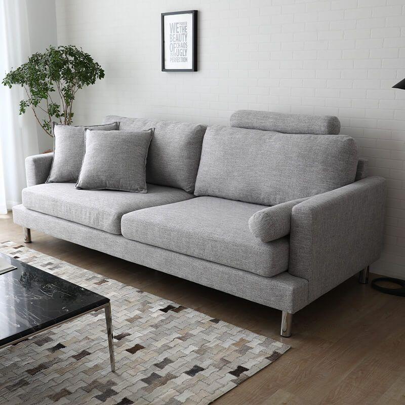 Hyde Sofa | Online Sofas Singapore | Living Room Furniture Singapore (SG) | BedandBasics | Scandinavian Sofa Design, Light Grey Upholstery, Buy Sofa