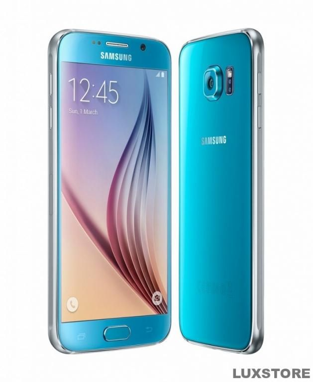Samsung Galaxy S6 64gb G920f Blue Topaz Fvm Cell Phone Booster T Mobile Phones Samsung