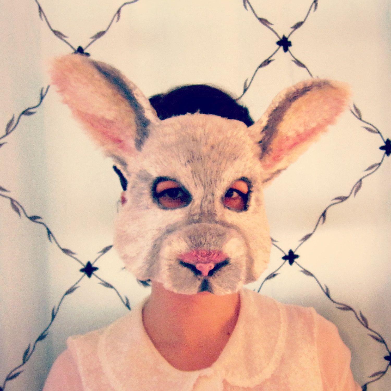 White Rabbit Mask, animal mask, halloween mask, judy hopps mask ...