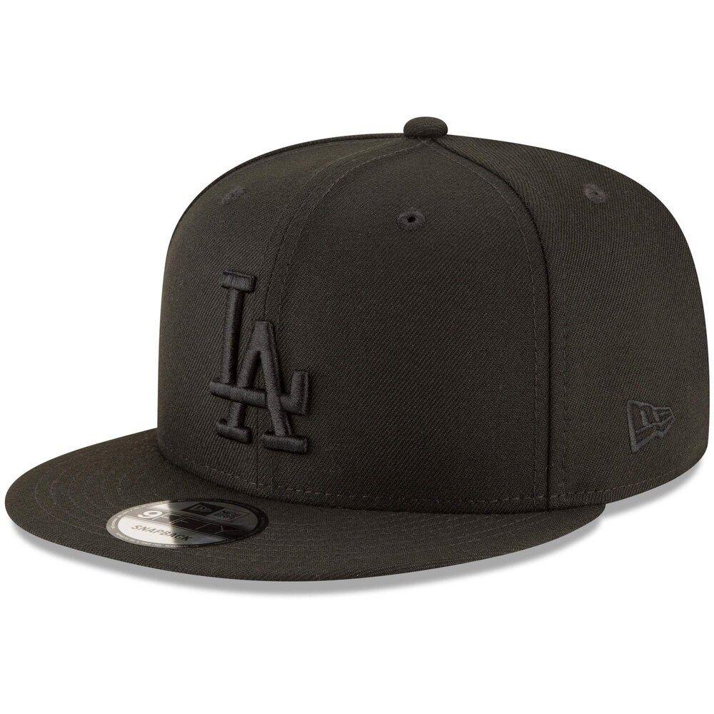 Black//White New Era 950 Los Angeles Dodgers Basic Snapback Hat Mens Cap