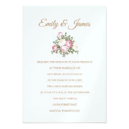 Vintage roses temple wedding invitation temple wedding invitation marriage gifts diy ideas custom stopboris Images