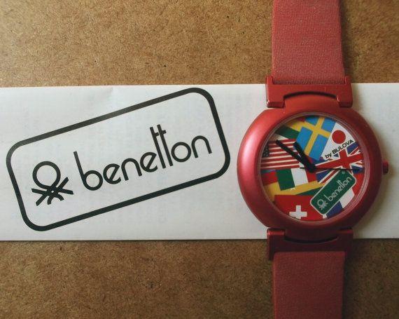 6ac9b589312 Benetton watch by Bulova   world flags   Times of the world ...