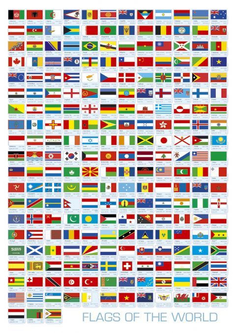 All The Flags Of The World And Their Names Flags Flags Of The World Flag Miniature Desk
