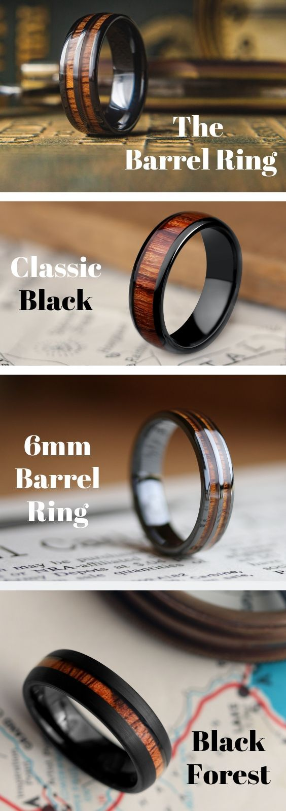Men S Unique Wedding Rings These Wooden Rings Are Crafted Out Of