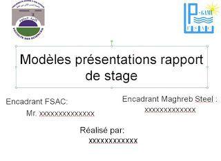 exemple Présentations powerpoint pour soutenance de stage ...