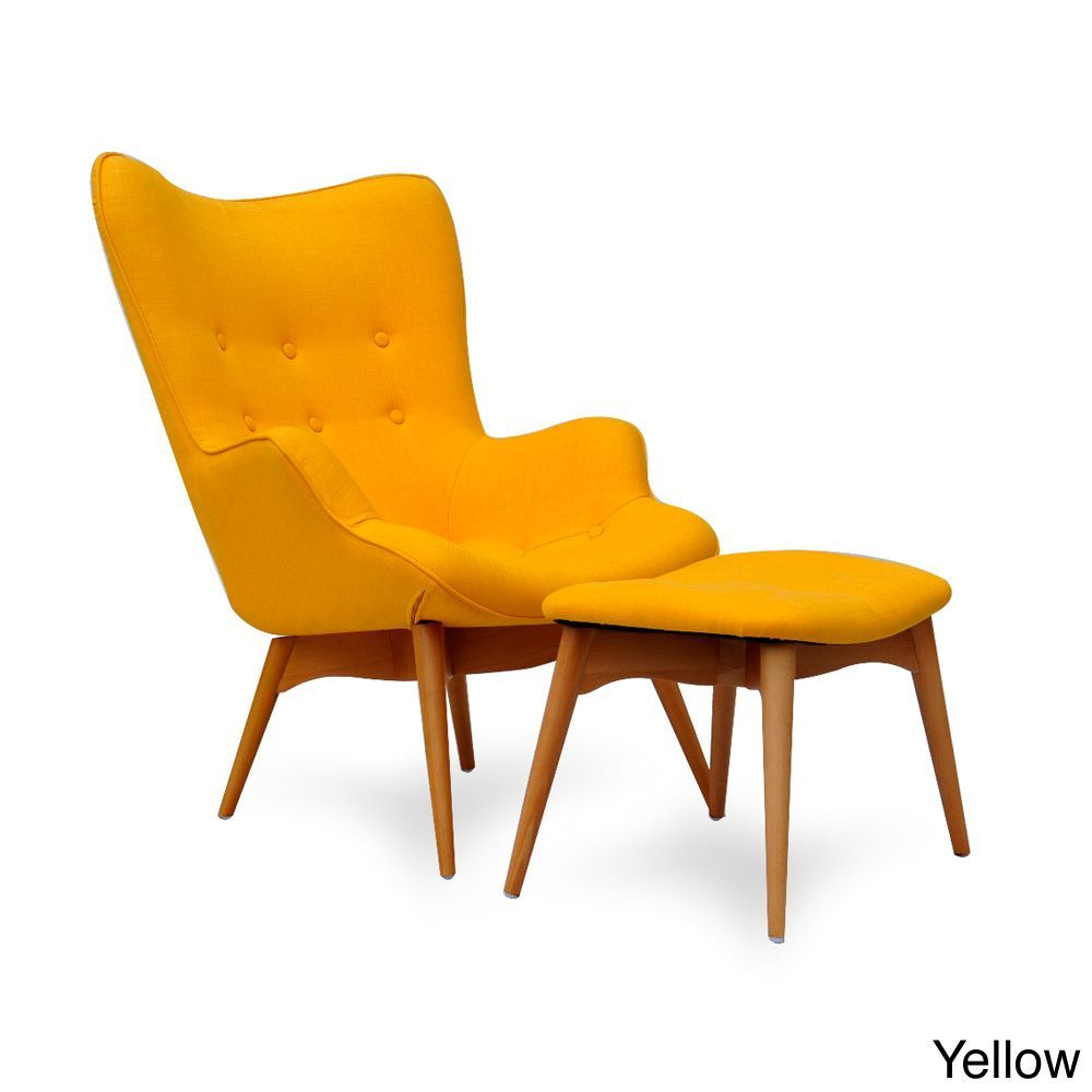Ceets Huggy Chair/ Ottoman (Yellow) (Foam) | Sala dormitorio ...