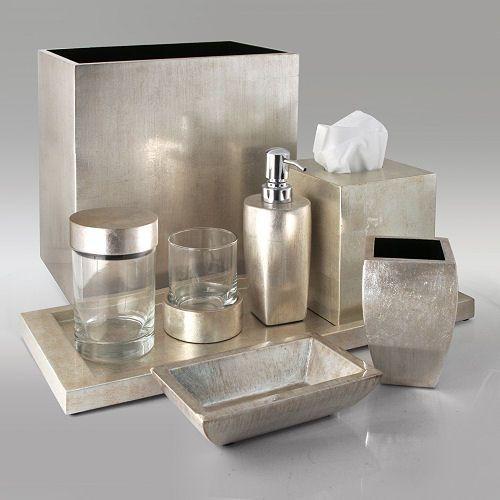 20 Silver Bathroom Accessories Magzhouse, Silver Bathroom Accessories Sets