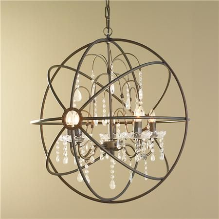 Crystal And Metal Orb Chandelier Orb Chandelier Orb Light