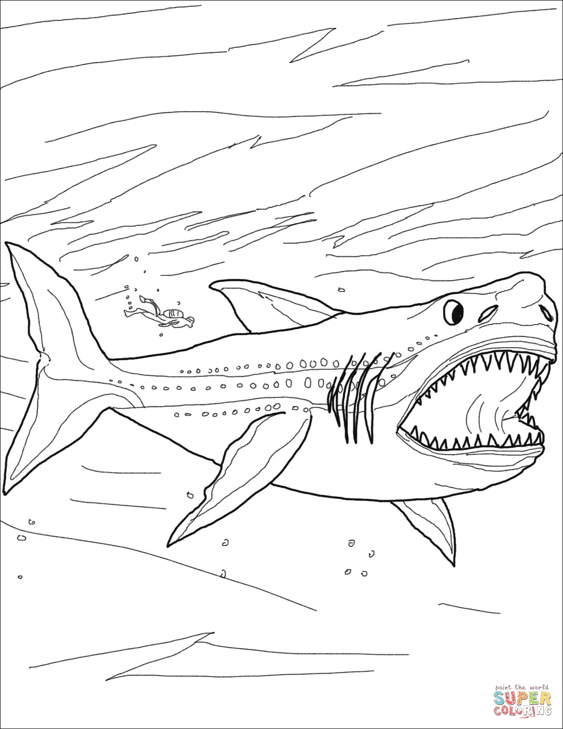 - Megalodon Shark Super Coloring (With Images) Shark Coloring