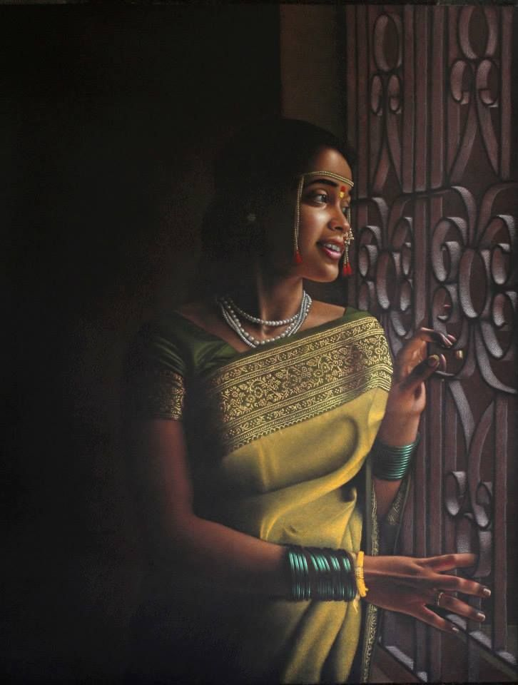 Color pencils on paper by shashikant dhotre