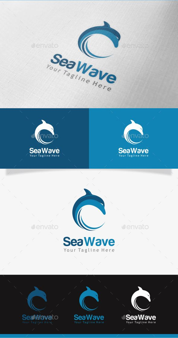 sea wave logo designs