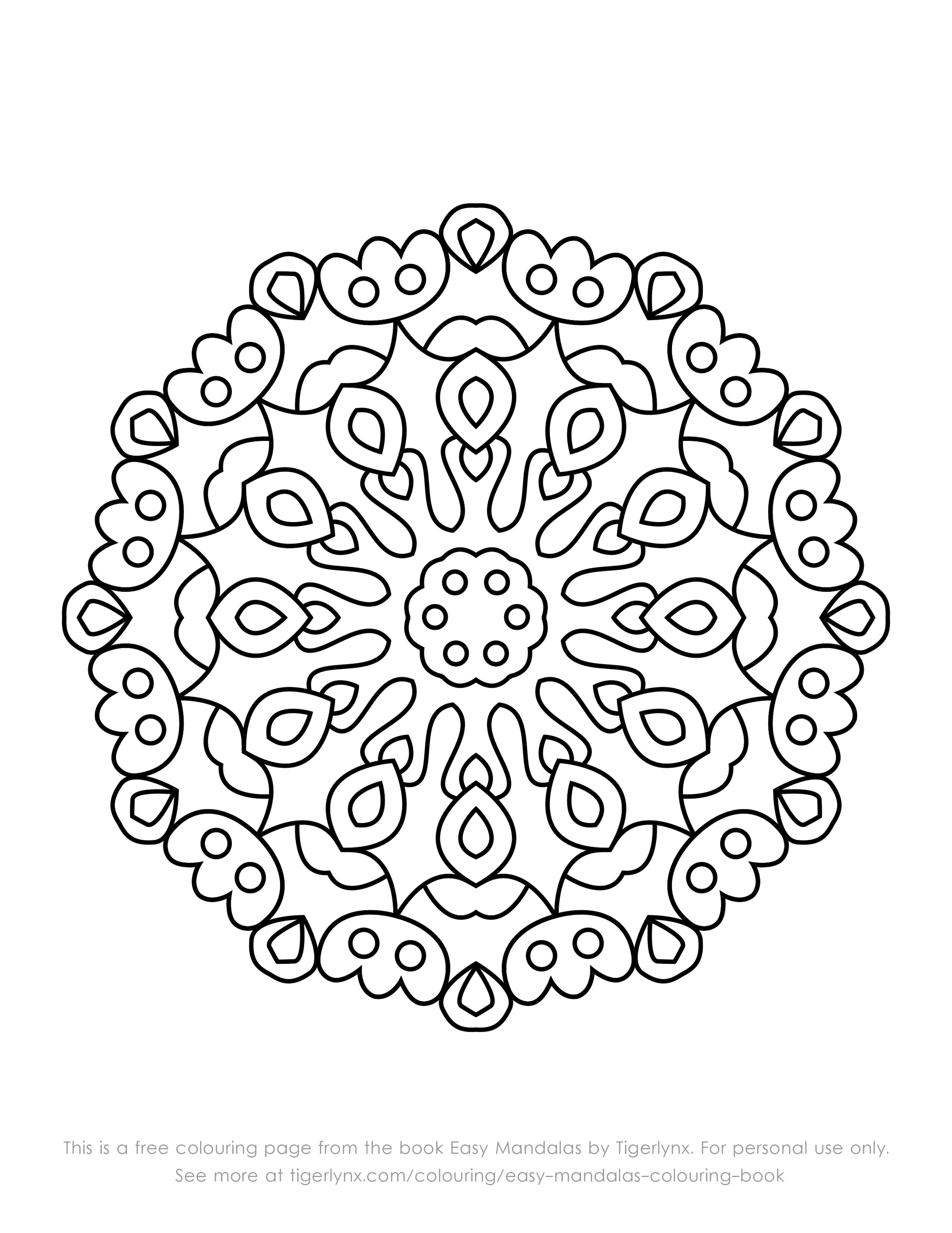 Free Mandala Colouring Page From The Book Easy Mandalas By