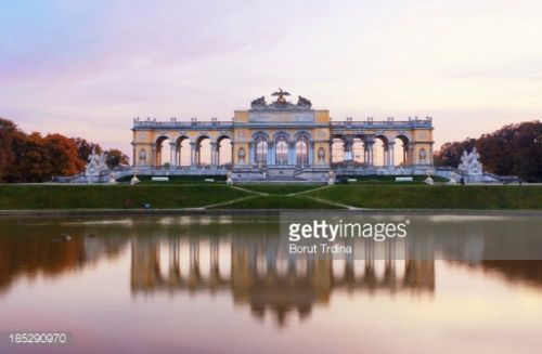 'Famous Gloriette right before the sunset. (Schoenbrunn,... #schonbrunn: 'Famous Gloriette right before the sunset.… #schonbrunn