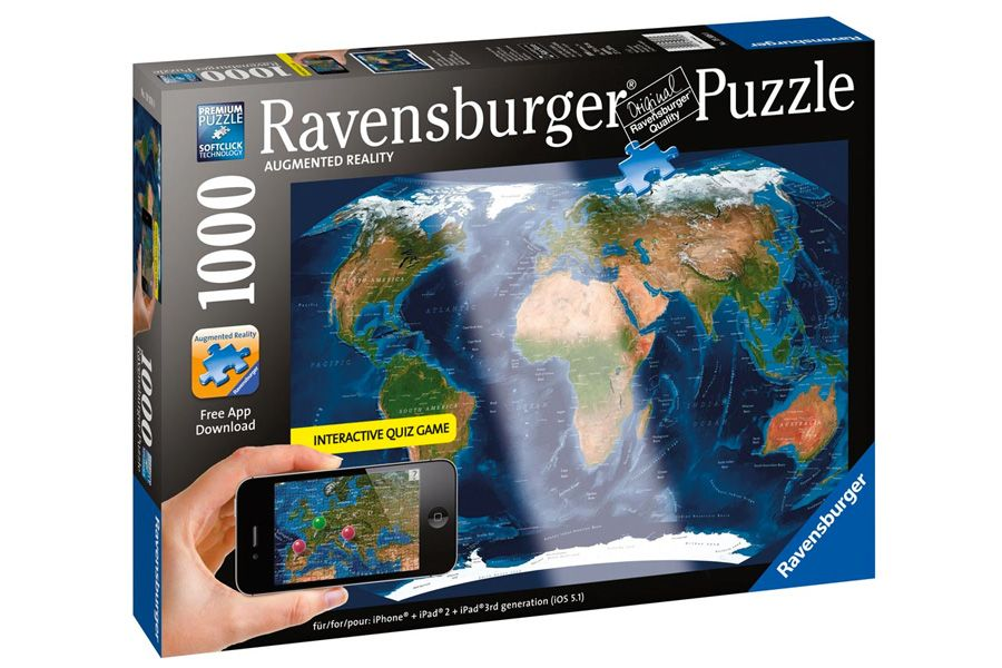 Satellite world map augmented reality puzzle 1000 pc satellite world map augmented reality puzzle 1000 pc ravensburger 2000 rompecabezasrealidad aumentadaapp iphonepiezas gumiabroncs Gallery