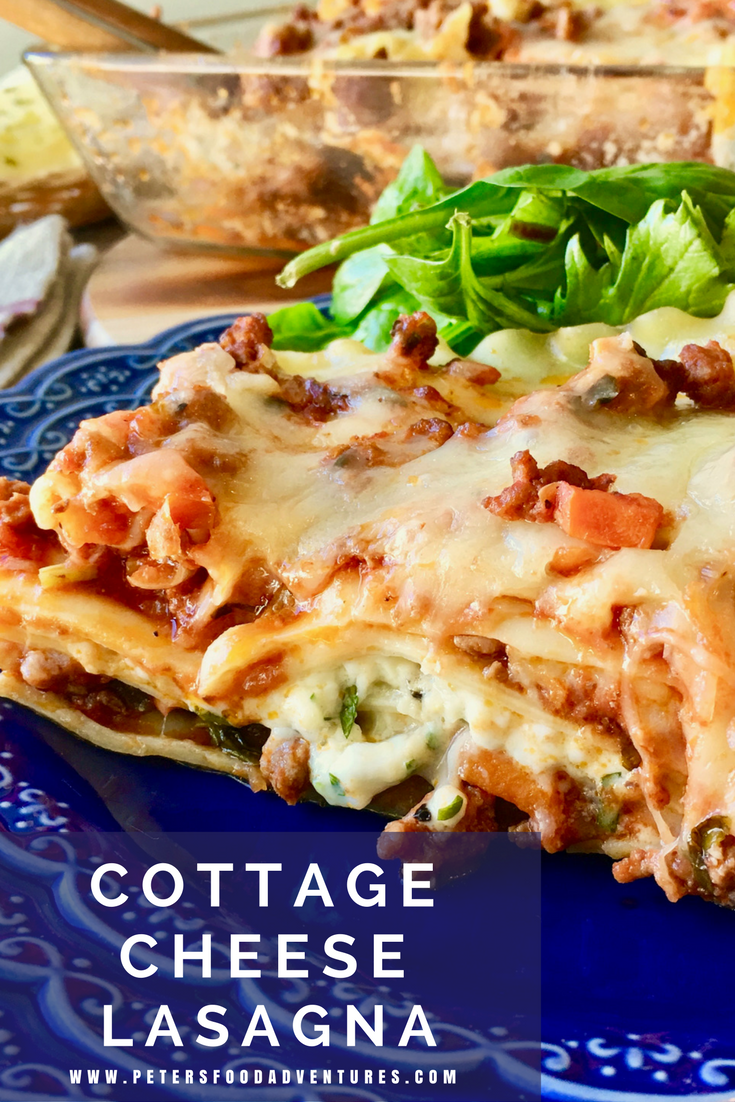 A Classic Lasagne Dinner Favorite With Loads Of Mozzarella Cheese Ragu Cottage Cheese And Parmesan Spinach Free Ca With Images Lasagna With Cottage Cheese Lasagna Food