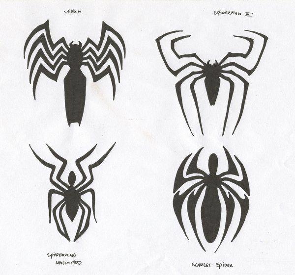 spiderman logos by carnivac 2 b sorted pinterest