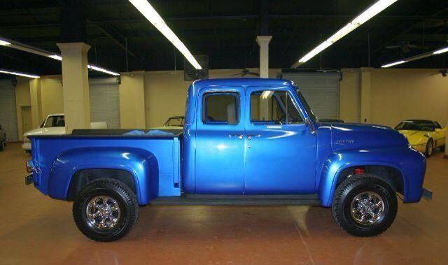 1953 F100 4 Door 4x4 Custom 460 3 Speed Auto Ford Pickup Trucks Ford Trucks Ford Pickup