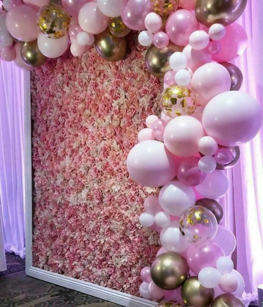 Pinks, Chrome Gold & Gold Confetti DIY Balloon
