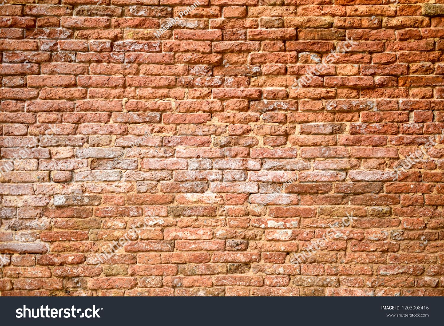 Front View Of A Red Old Fashioned Bricks Wall Old Brick Wall Brick Wallpaper Brick Wall