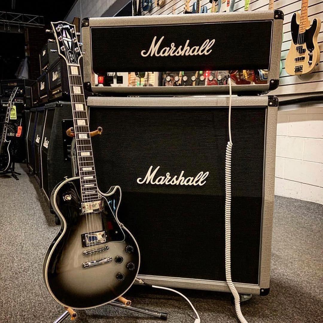 Marshall Amplification On Instagram Silver On Silver Photo Motorcityguitar Liveformusic Guitar Marshall Amplification Semi Acoustic Guitar