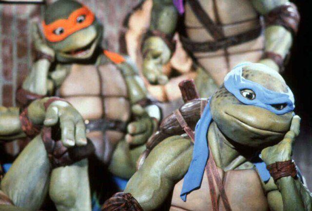 Vintage 1990 Teenage Mutant Hero Turtles 3x petit encadrée photos