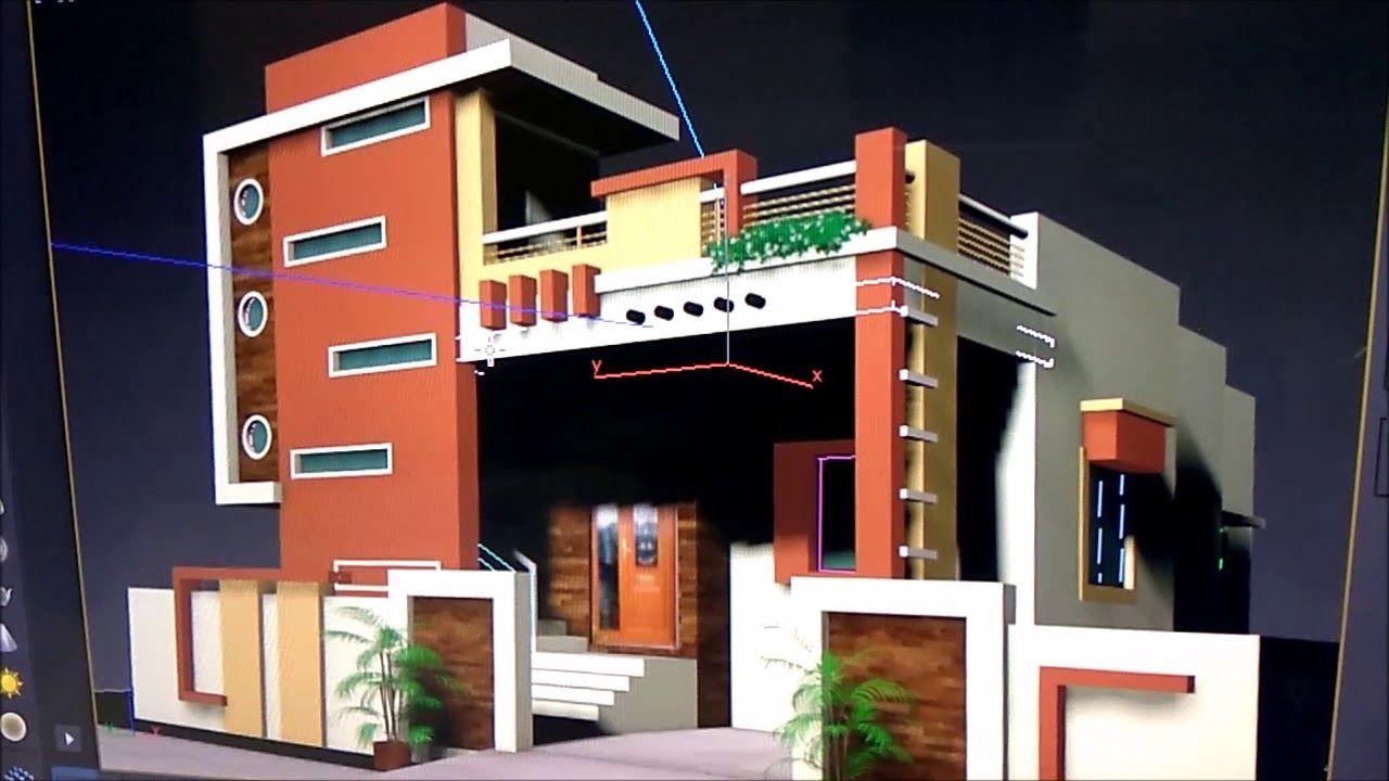 Modern Ground Floor House Plan And 3d Design House Balcony Design Bungalow House Design Modern Bungalow House