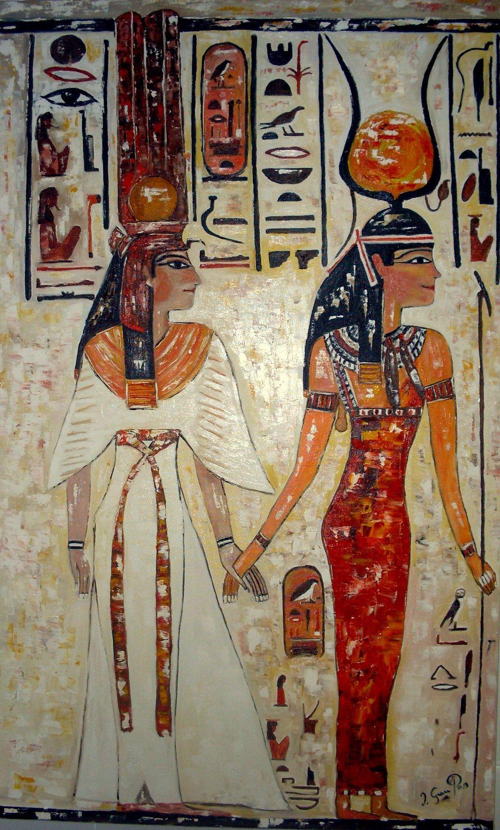 Nefertiti and Isis by sweetposey.deviantart.com on @DeviantArt