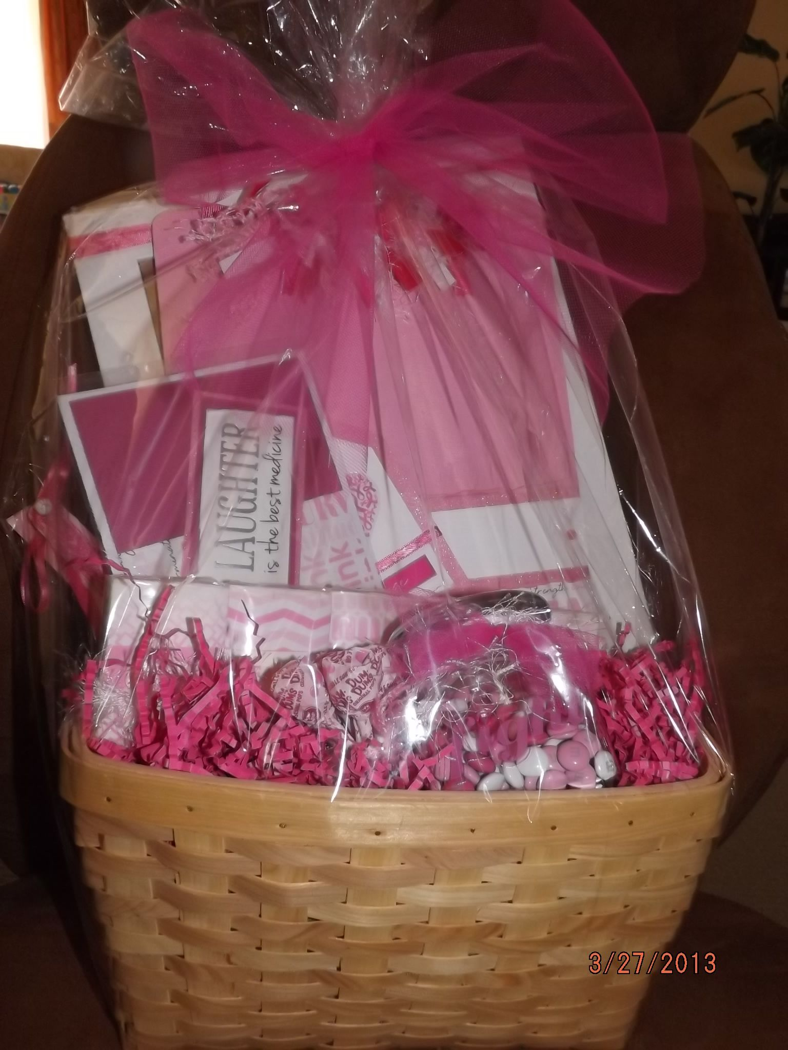 Breast Cancer Relay For Life Basket Things I Have