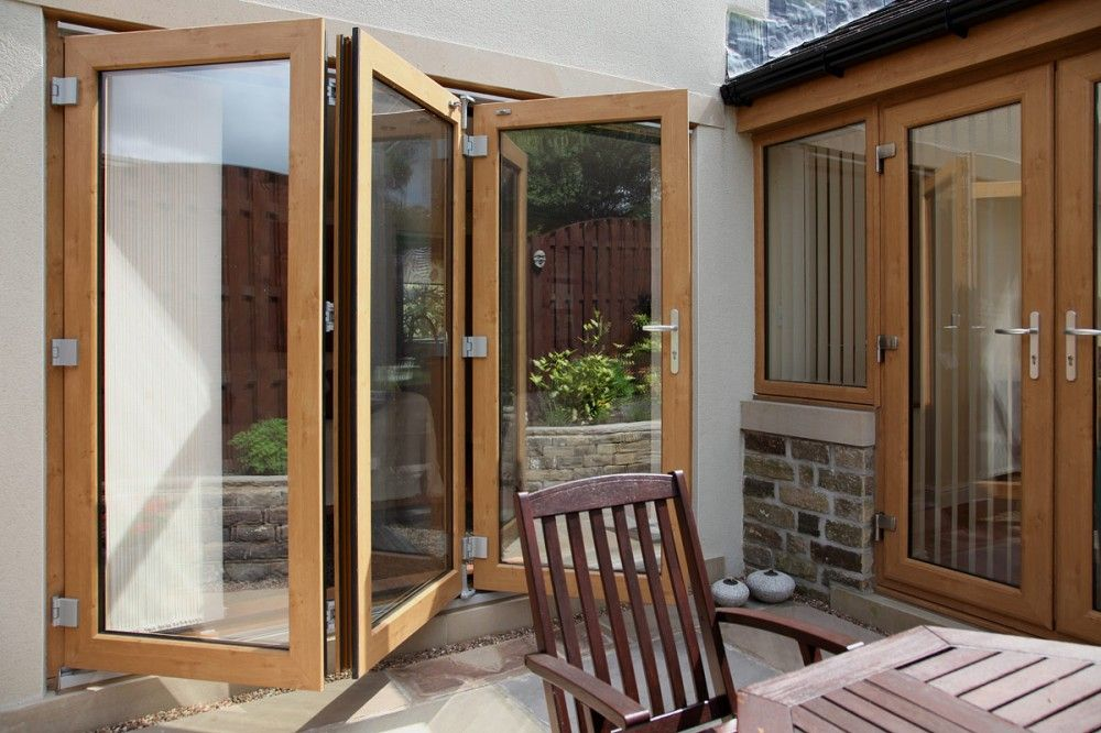Irish Oak PVCu bi-fold doors. | Beautiful Bi-Fold Doors ...