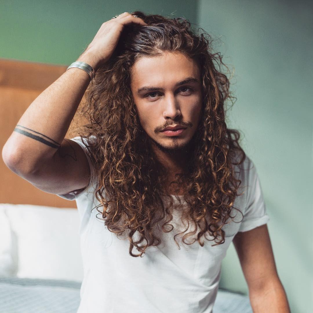 Long curly hair for men long hair inspiration long natural hair - Giaro Giarratana Jay Inspiration Curly Haircutslong Hairstyleslong Haired Menwild Hairlong Locksmen Hairbearded