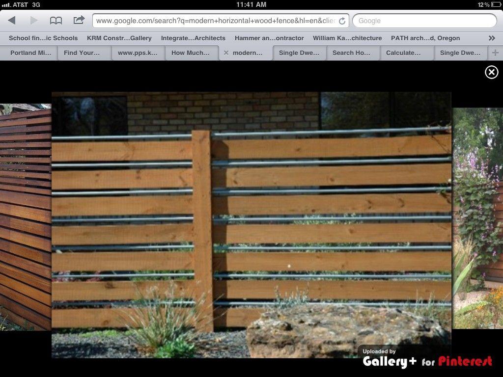 horizontal fencing for modern house portland house. Black Bedroom Furniture Sets. Home Design Ideas