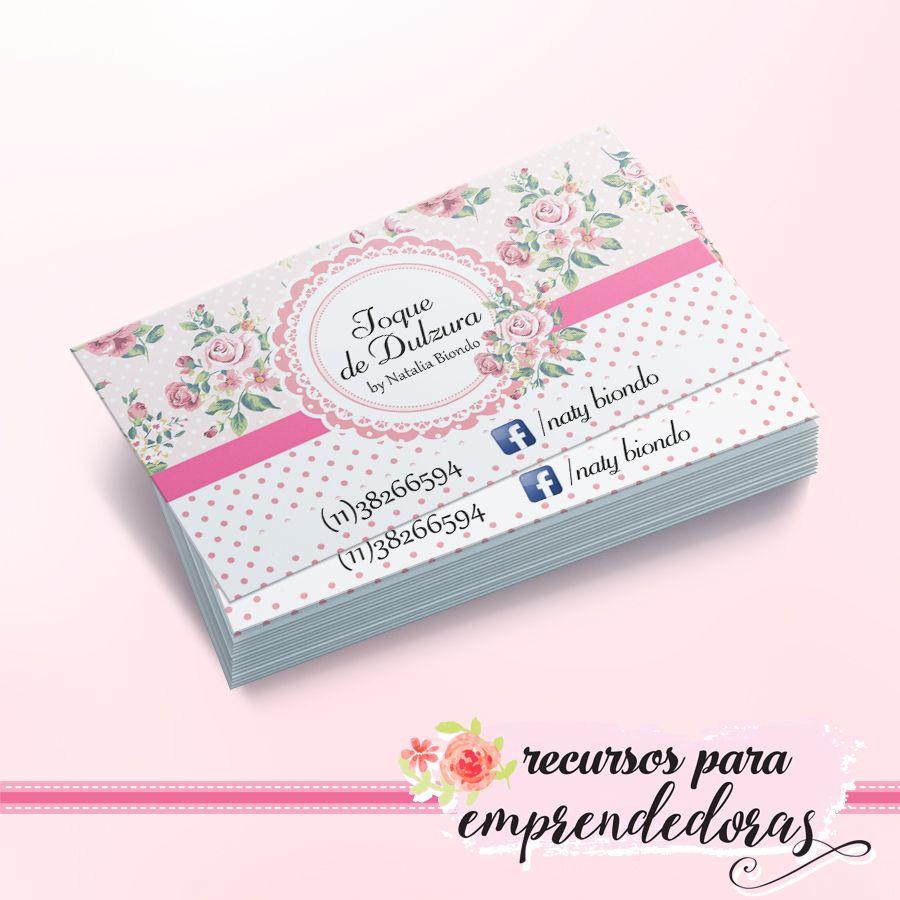 Diseño de tarjeta personal para repostera shabby chic / Recursos ...