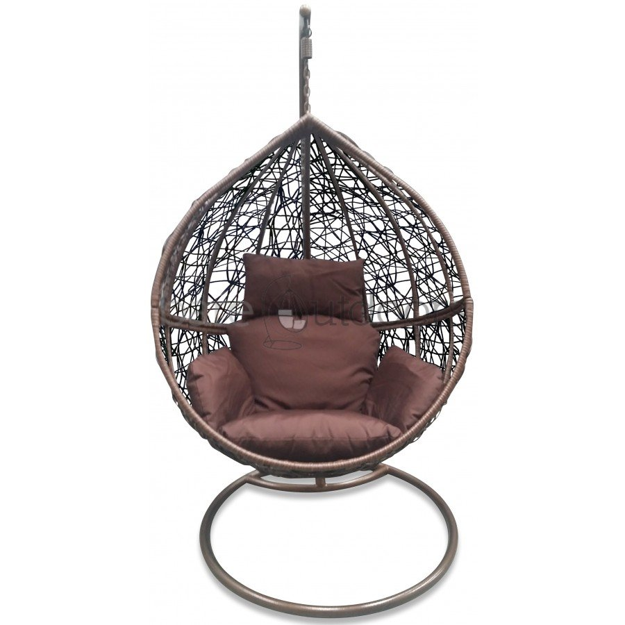 Outdoor Hanging Ball Chair Chocolate Brown Hanging Egg Chair
