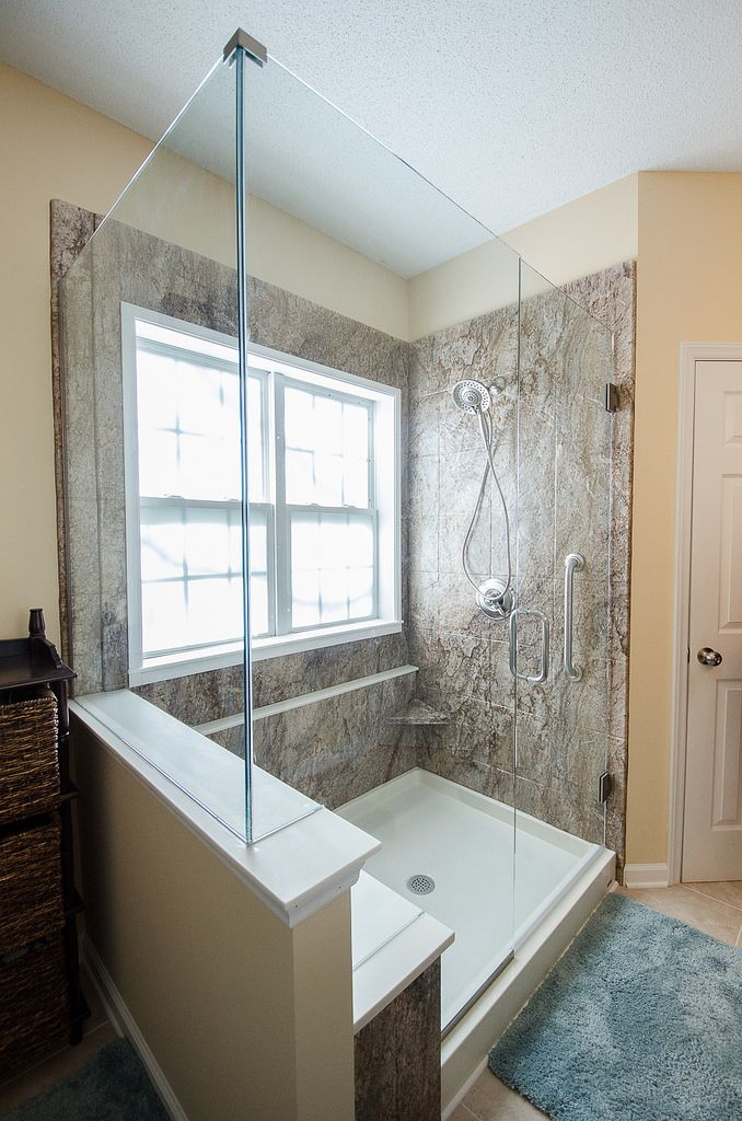 Fowler Final Bathroom Bench Remodel Bathroom And Frameless - Re bath bathroom remodeling