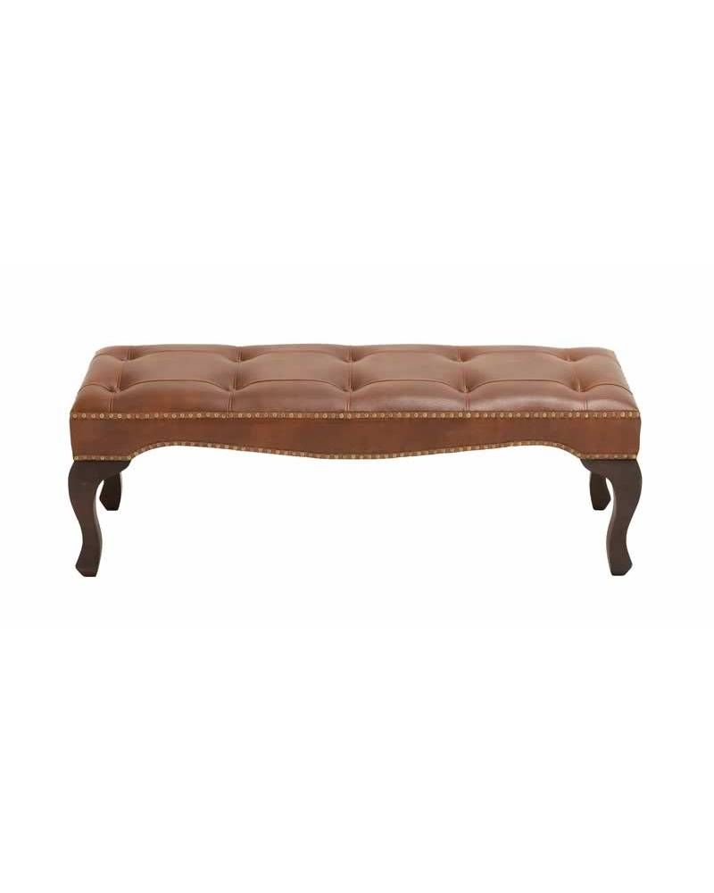 Contemporary Wood Leather Bench Stool The Moment You Set Your Eyes On This Elegant Wood Leather Bench You D Feel Your Room And Decor Was Missing With Images Wood Bedroom