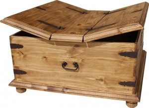 Square Trunk Coffee Table Chest Coffee Table Pine Coffee Table