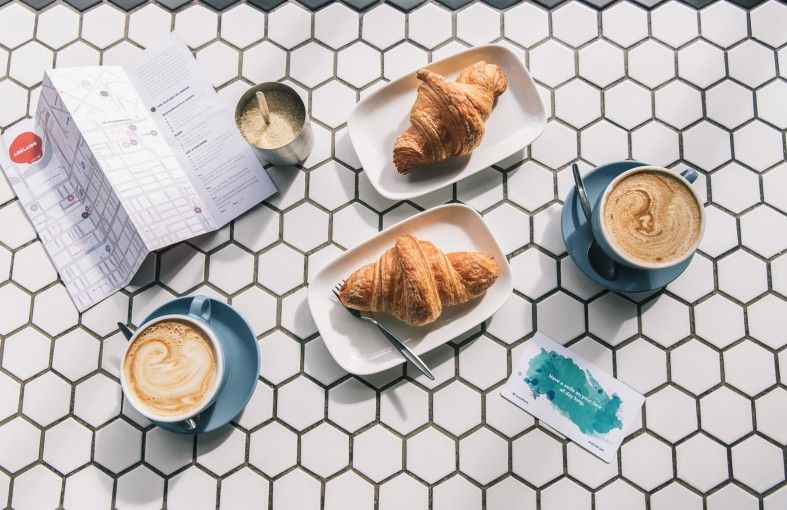 Coffee & croissant time  #coffee