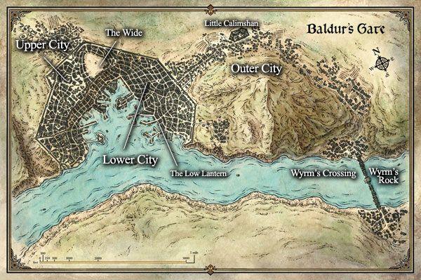 Port of Baldur's Gate, Faerûn | Fantasy City Maps | Fantasy city map