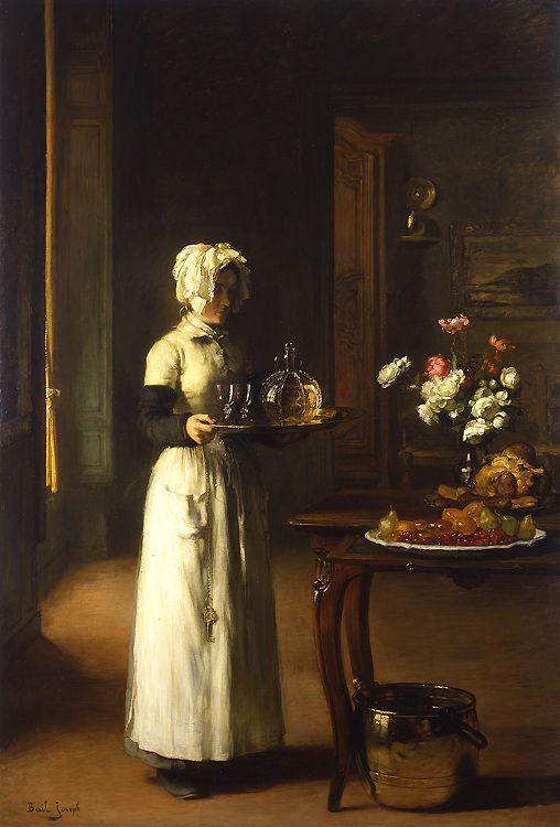 Joseph Bail Ne A Limonest Rhone 1862 1921 The Serving Maid