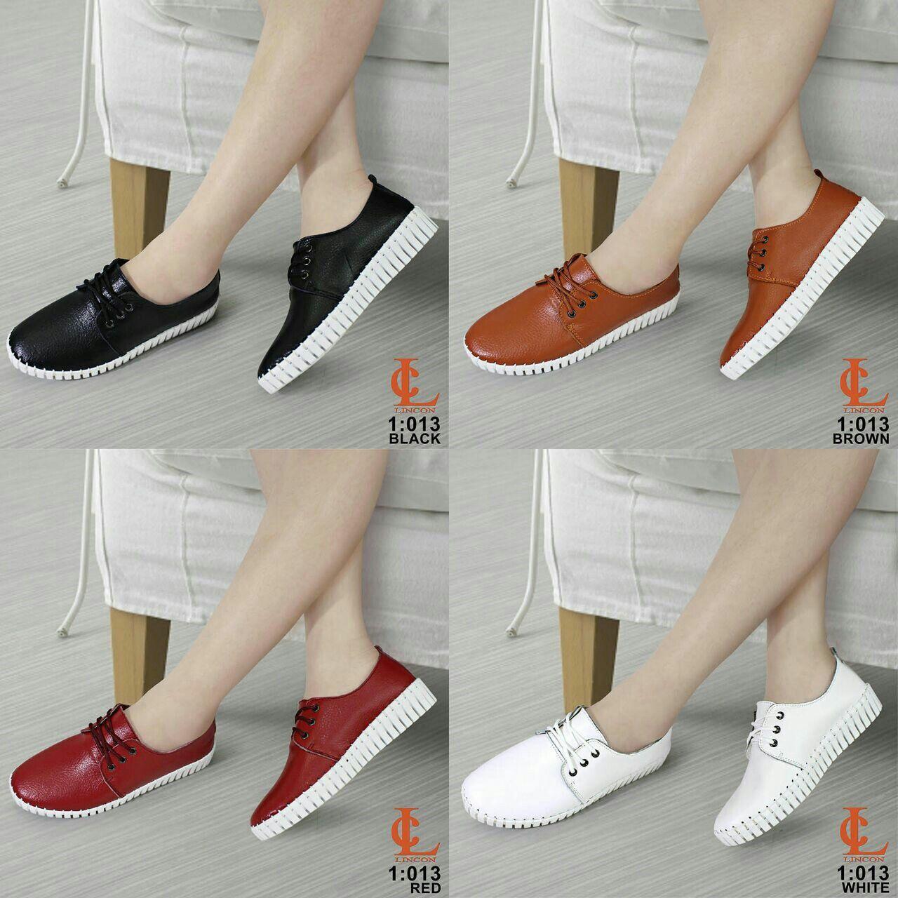 Sepatu Lincon 013 Original Brand Bahan Kulit Asli Hight Site 3cm