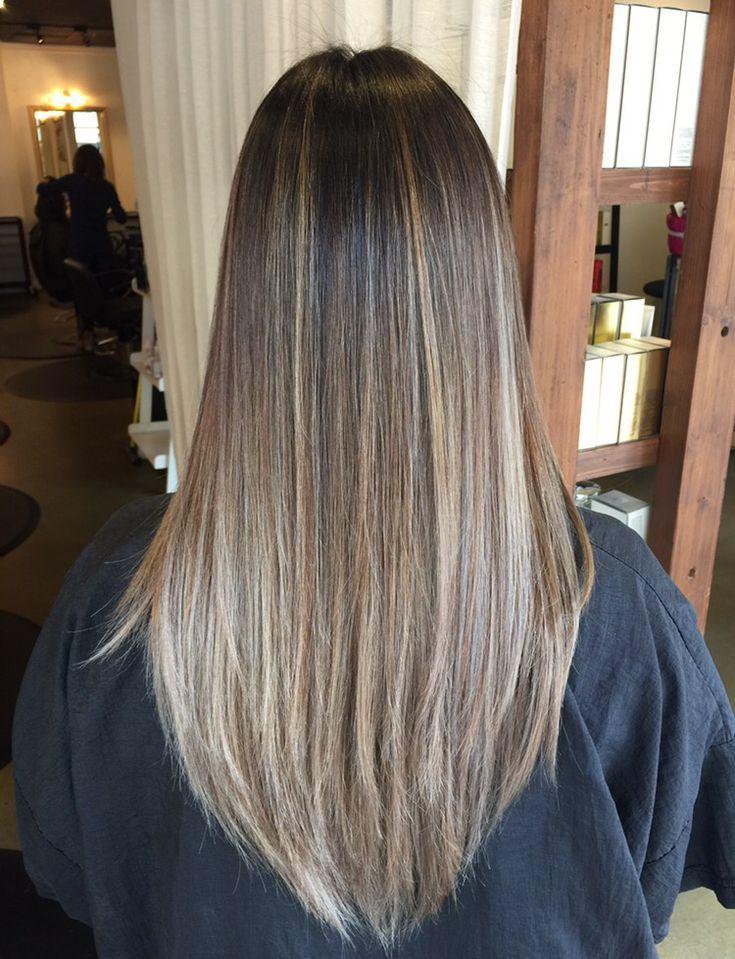 Balayage Glattes Haar Ideen Hair Haare Balayage Glattes Haar