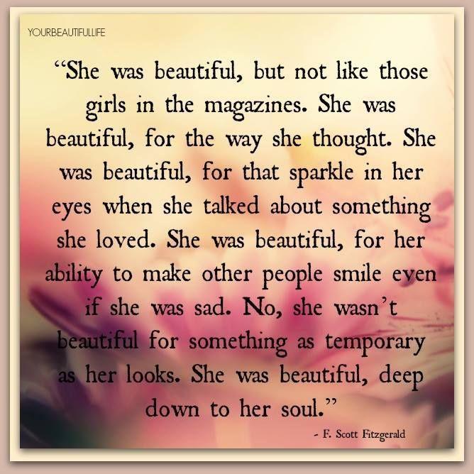 F Scott Fitzgerald She Was Beautiful