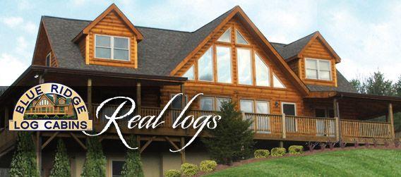 Log cabin home built by Blue Ridge Log Home Builders    My