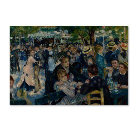Trademark Fine Art \'Le Moulin de la Galette\' Canvas Art by Pierre ...