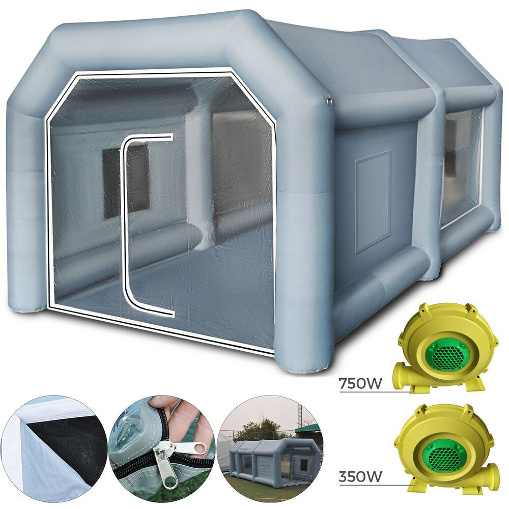 Details About 13x8x7ft Inflatable Spray Paint Booth Tent Car