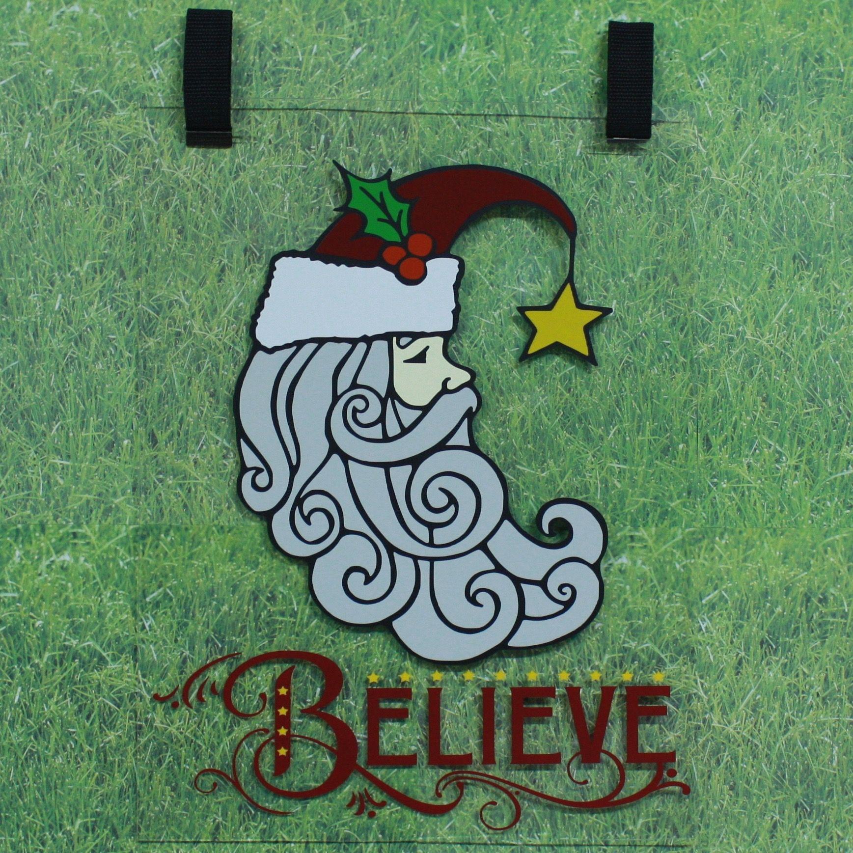 Santa with Believe | Personalized Plexiglass Garden Flags ...