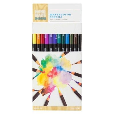 12ct Watercolor Pencils Hand Made Modern Watercolor Pencils
