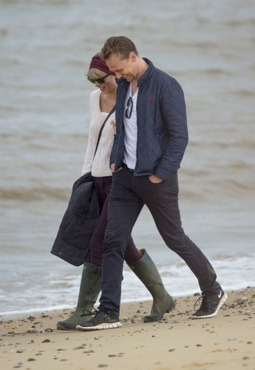 Taylor Swift and Tom Hiddleston Out and About in Suffolk, England
