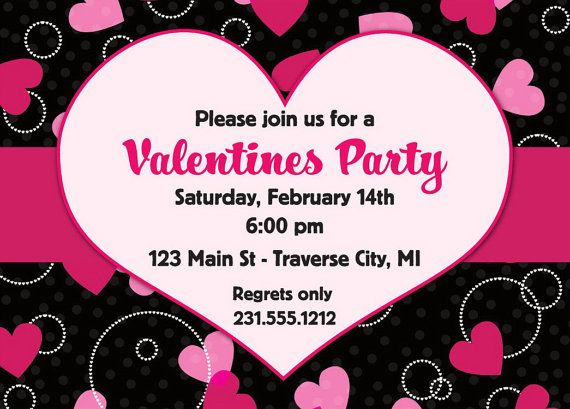 Valentines Invitation  Valentines Day Party Invitation  Digital