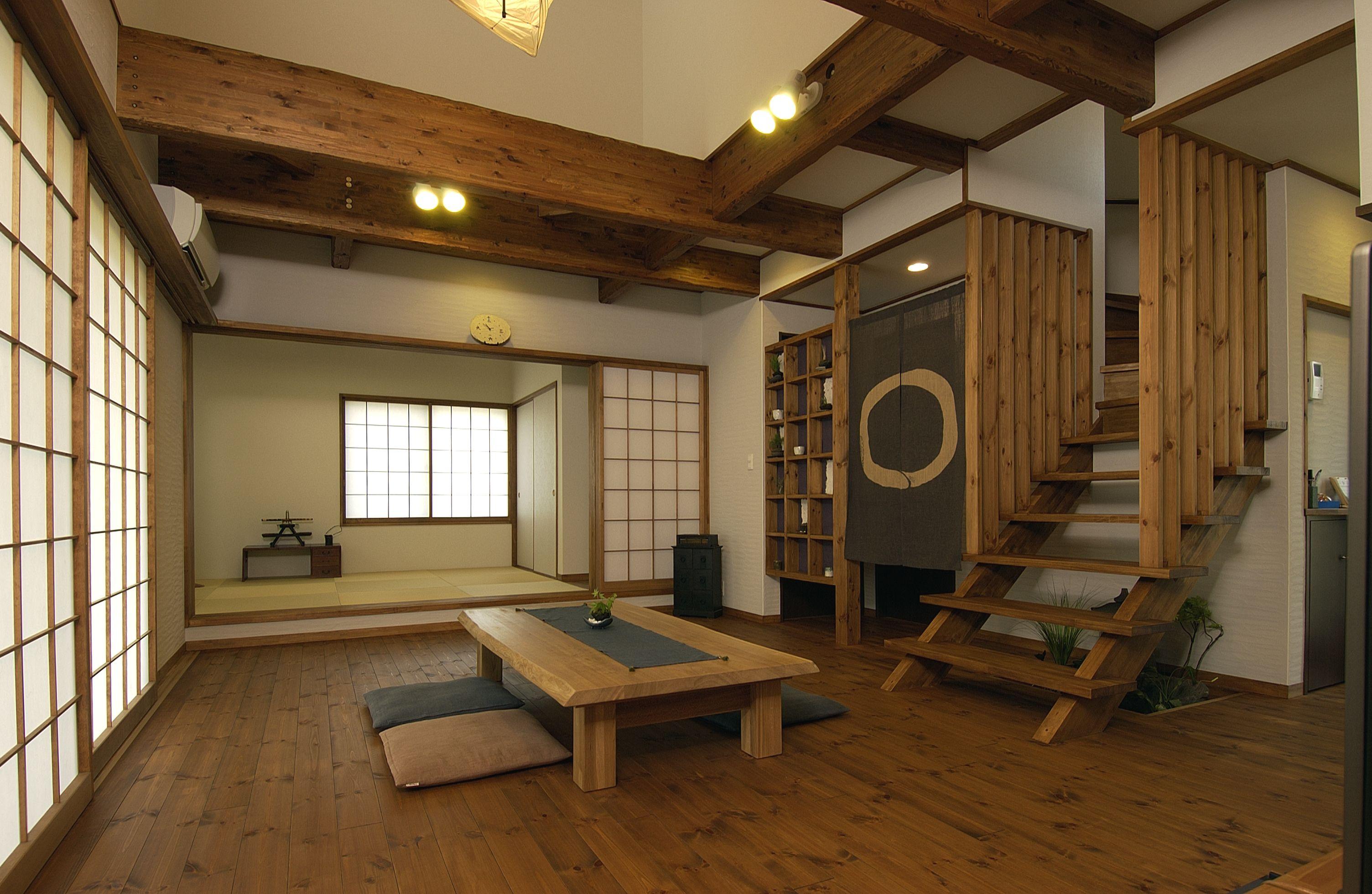 和 だけど モダン な家 リビング横 Traditional Japanese House